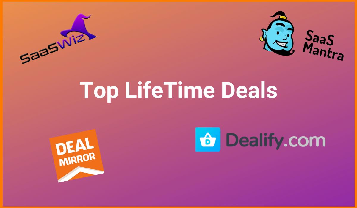 Top LifeTime Deals on SaaS - NOVEMBER 2020