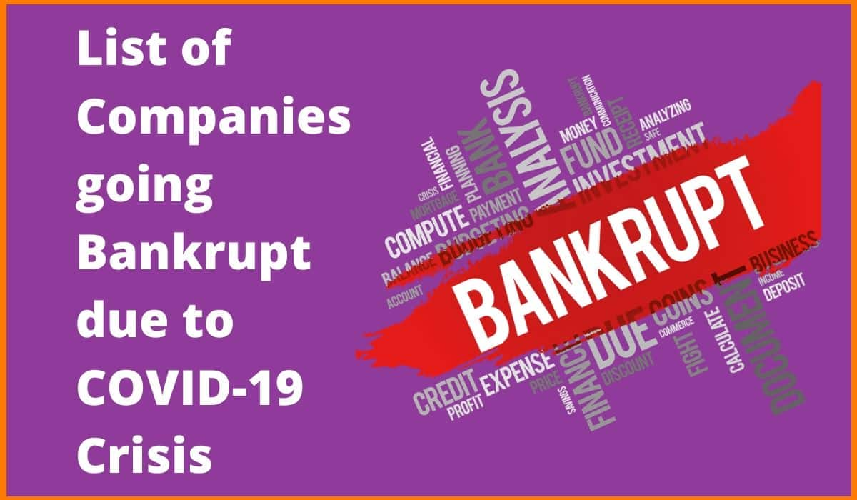 Major Companies that may Go  Bankrupt during Coronavirus pandemic