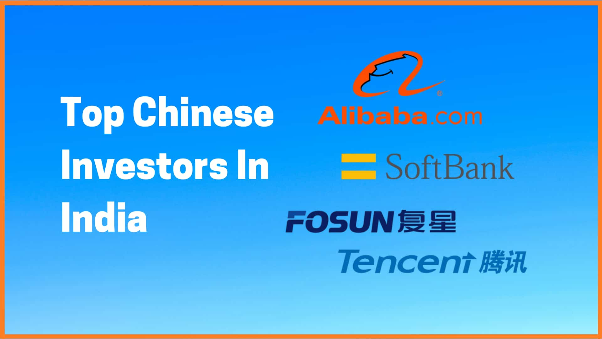 Top Chinese Investors Of The Startup Ecosystem In India