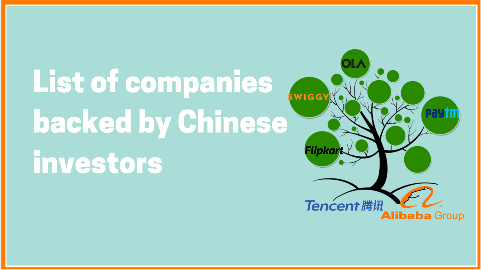 List Of Chinese-Backed Companies In India